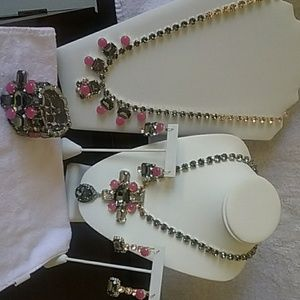 5 piece silver and Swarovski Crystal custom jewelr